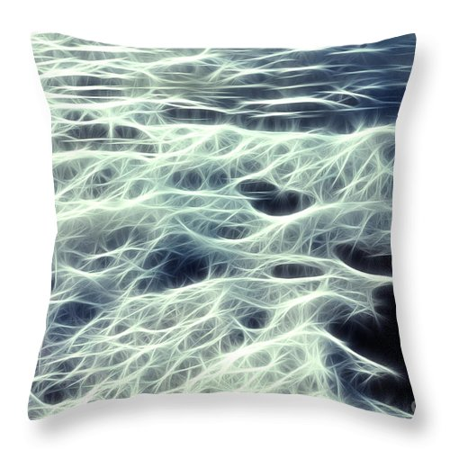 Abstract Throw Pillow featuring the photograph The Edge Of The Wave by Vivian Christopher