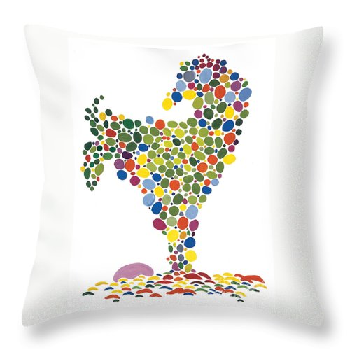 Contemporary Throw Pillow featuring the painting The Egg by Bjorn Sjogren