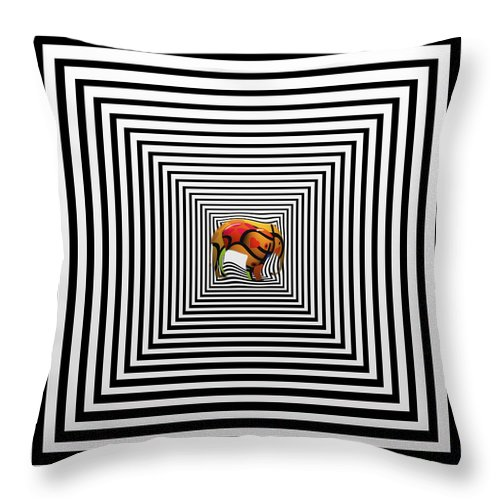 Elephant Throw Pillow featuring the painting The Elephant In The Room by Charles Stuart