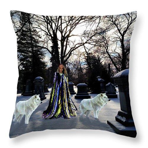 Elf Throw Pillow featuring the digital art The Elf Queen by Michael Rucker