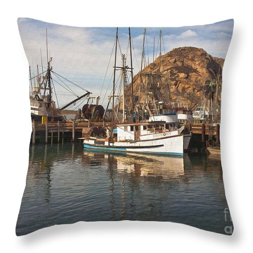 Morro Bay Throw Pillow featuring the digital art The Ermeony by Sharon Foster