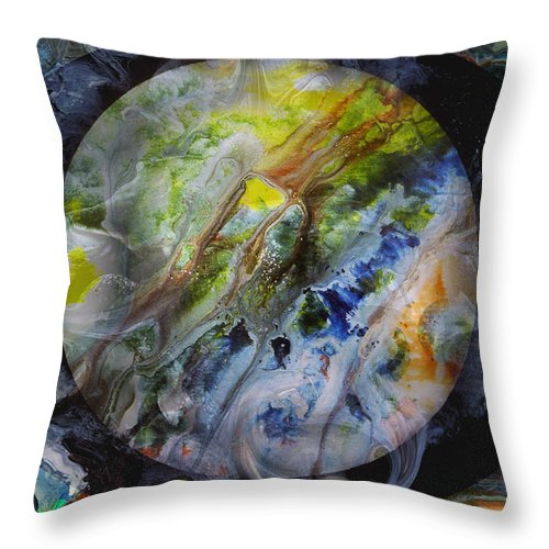 Surrealism Throw Pillow featuring the digital art The Eye Of Silence by Otto Rapp