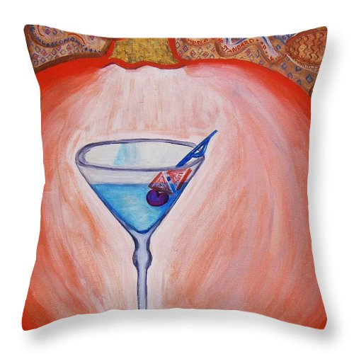Jandrel Throw Pillow featuring the painting The Fall by J Andrel