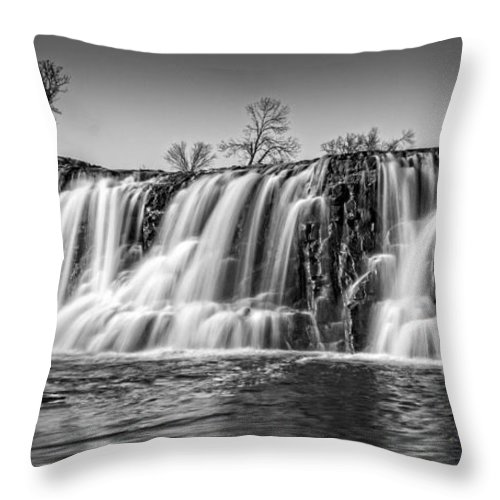 The Falls Throw Pillow featuring the photograph The Falls 2 by Ray Van Gundy