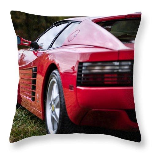 512 Throw Pillow featuring the photograph The Ferrari 512 by Eduard Moldoveanu