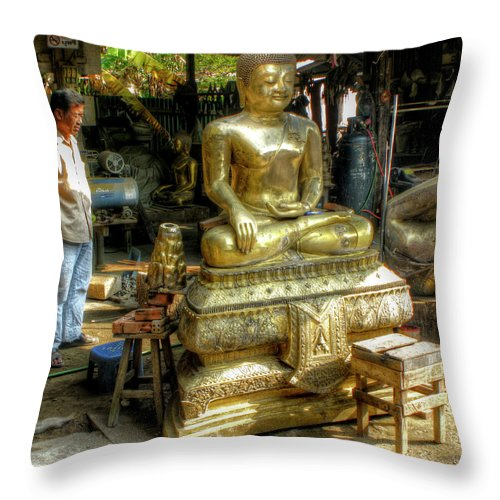 Buddha Throw Pillow featuring the photograph The Final Stages by Douglas J Fisher
