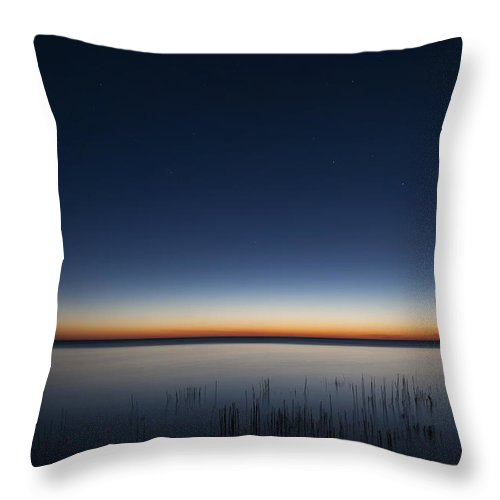 Dawn Throw Pillow featuring the photograph The First Light Of Dawn by Scott Norris