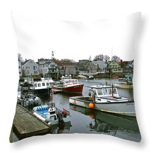 Fishing Throw Pillow featuring the photograph The Fleet Is Ready by Susan Wyman