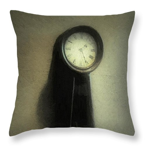 Antique Throw Pillow featuring the painting The Forgiveness Of Time by RC DeWinter