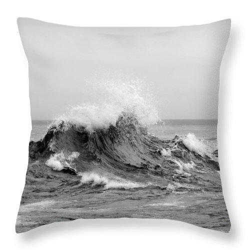 Black And White Throw Pillow featuring the photograph The Fury by Alison Gimpel