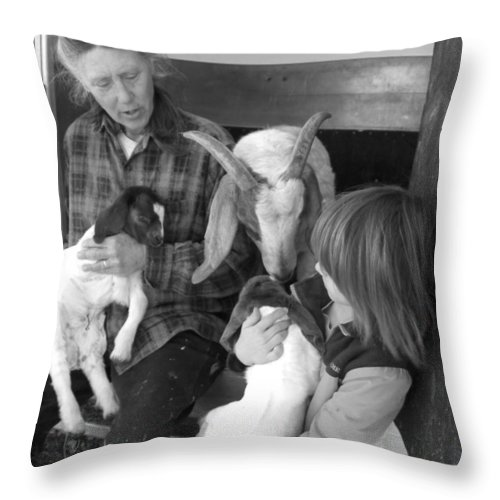 Kid Throw Pillow featuring the photograph The Future Of Farming by Sheri Lauren