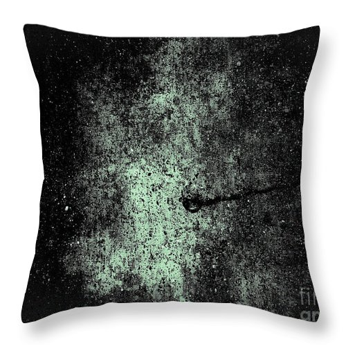 Abstract Throw Pillow featuring the photograph The Galaxy B W by Fei A