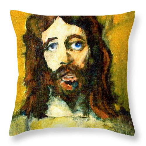 Jesus Christ Throw Pillow featuring the painting The Galilean by Seth Weaver