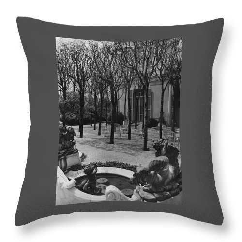 The Garden Of A Home In Meridian Hill Throw Pillow