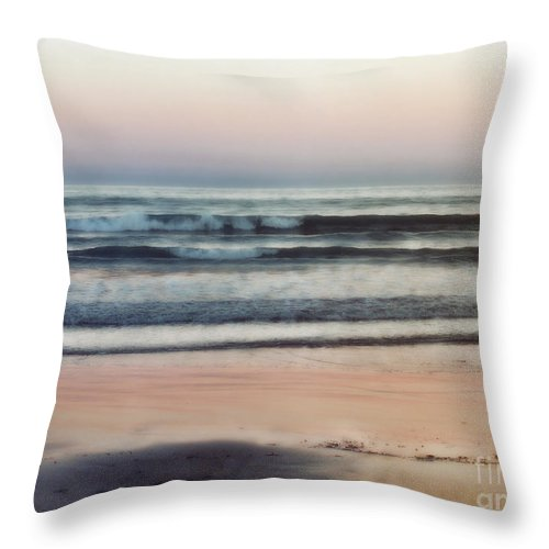 Ocean Throw Pillow featuring the photograph The Gentle Sea by Karen Lewis