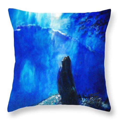 The Gethsemane Prayer Throw Pillow featuring the painting The Gethsemane Prayer by Seth Weaver