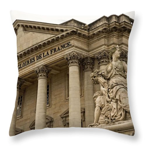 Versailles Throw Pillow featuring the photograph The Glory Of France by Hany J