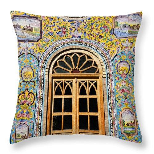 Iran Throw Pillow featuring the photograph The Golestan Palace In Tehran Iran by Robert Preston