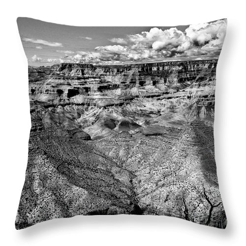 Canyon Throw Pillow featuring the photograph The Grand Canyon by Bob and Nadine Johnston