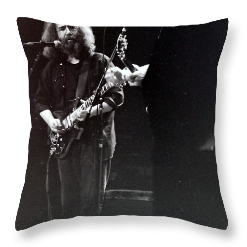 Grateful Dead Throw Pillow featuring the photograph The Grateful Dead - Fare Thee Well  by Susan Carella