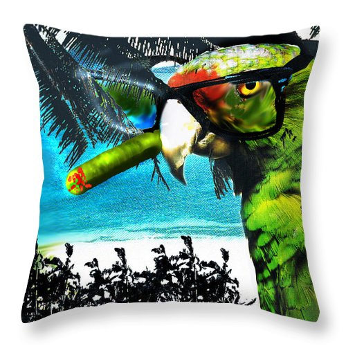 The Great Bird Of Casablanca Throw Pillow featuring the digital art The Great Bird Of Casablanca by Seth Weaver
