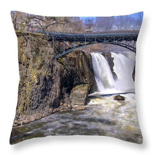 Great Falls Paterson Throw Pillow featuring the photograph The Great Falls by Anthony Sacco
