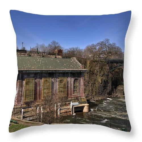 Great Falls Paterson Throw Pillow featuring the photograph The Great Falls In Paterson by Anthony Sacco