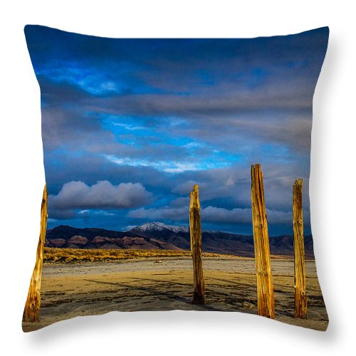 Landscape Throw Pillow featuring the photograph The Great Salt Lake by Jason Chacon