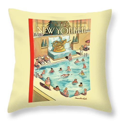 The Great Thaw Throw Pillow featuring the painting The Great Thaw by Marcellus Hall