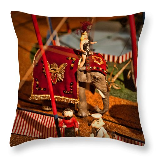 Circus Throw Pillow featuring the photograph The Greatest Show On Earth -1 by K Hines