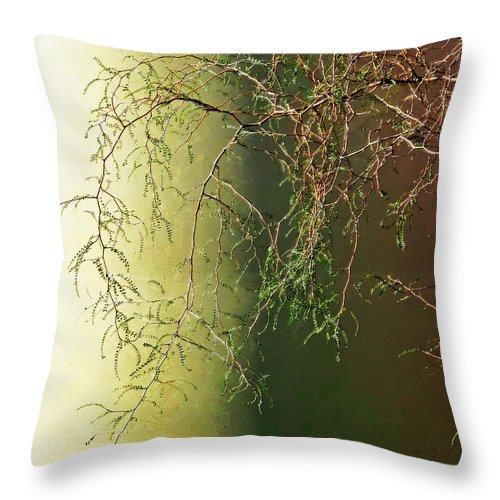 Green Throw Pillow featuring the photograph The Green End Of The Spectrum by Steve Taylor