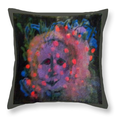 Paintings Throw Pillow featuring the painting The Guardian by Catherine Helmick