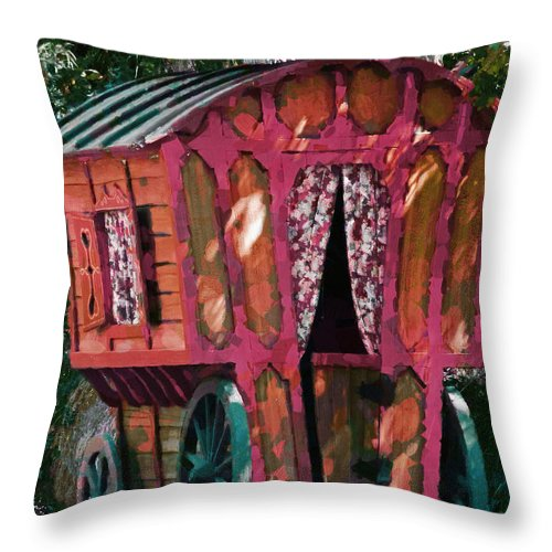 Caravn Throw Pillow featuring the photograph The Gypsy Caravan by Steve Taylor