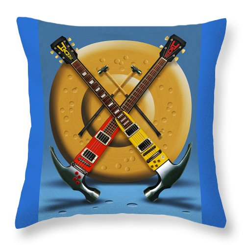 Rock And Roll Throw Pillow featuring the photograph The Hammer by Mike McGlothlen