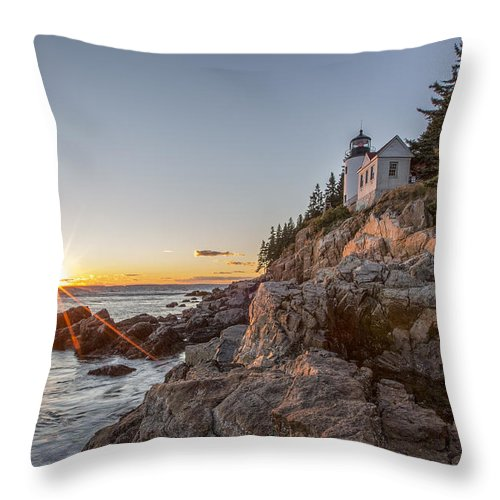 Horizontal Throw Pillow featuring the photograph The Harbor Sunset by Jon Glaser