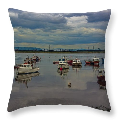 Paddys Hole Throw Pillow featuring the photograph The Harbour by Trevor Kersley
