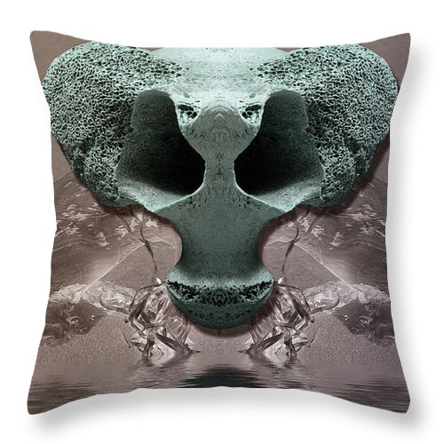 Throw Pillow featuring the photograph The Haunt by WB Johnston