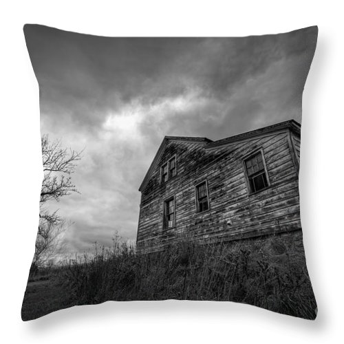 Landscape Throw Pillow featuring the photograph The Haunted by Michael Ver Sprill