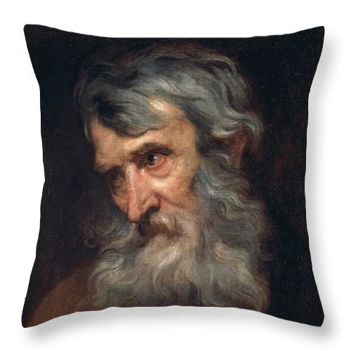 The Head Of An Old Man Throw Pillow For Sale By Anthony Van Dyck