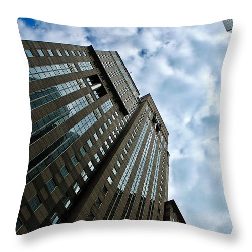 The Heart Of Pittsburgh Throw Pillow featuring the photograph The Heart Of Pittsburgh by Rachel Cohen