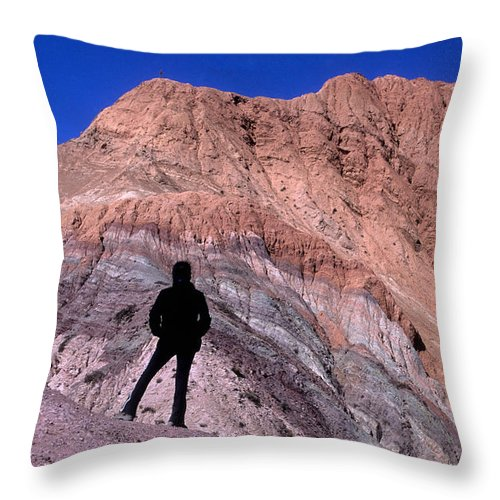 Argentina Throw Pillow featuring the photograph The Hill Of Seven Colours Jujuy Argentina by James Brunker