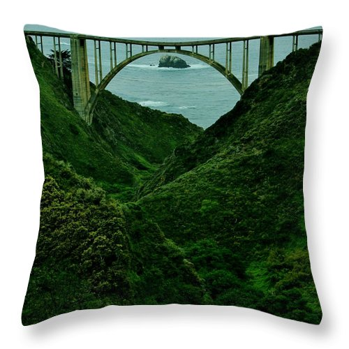 California Throw Pillow featuring the photograph The Historic Pch by Benjamin Yeager