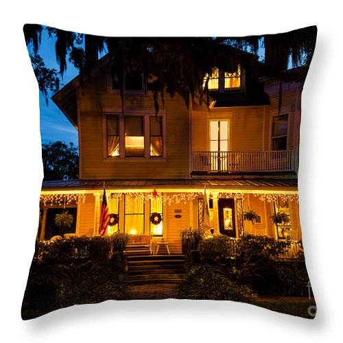 Amelia Island Throw Pillow featuring the photograph The Hoyt House by Dawna Moore Photography