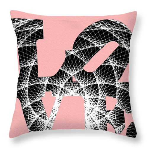The Invisible Lines That Hold Love Together Throw Pillow featuring the digital art The Invisible Lines That Hold Love Together by Bill Cannon
