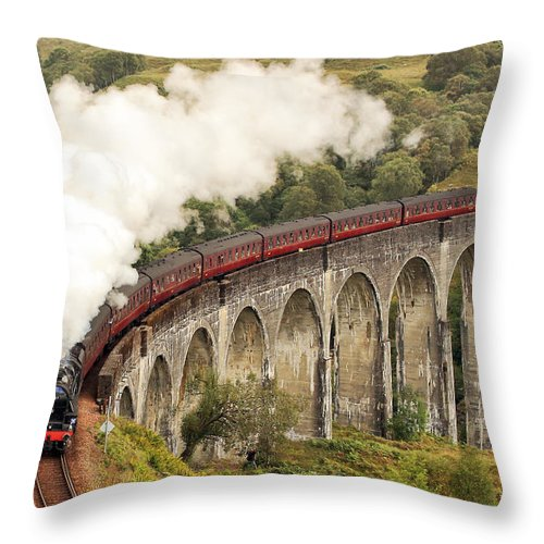 The Jacobite Throw Pillow featuring the photograph The Jacobite by Grant Glendinning