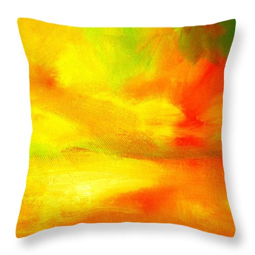 Paintings By Lyle Throw Pillow featuring the painting The Journey by Lord Frederick Lyle Morris - Disabled Veteran