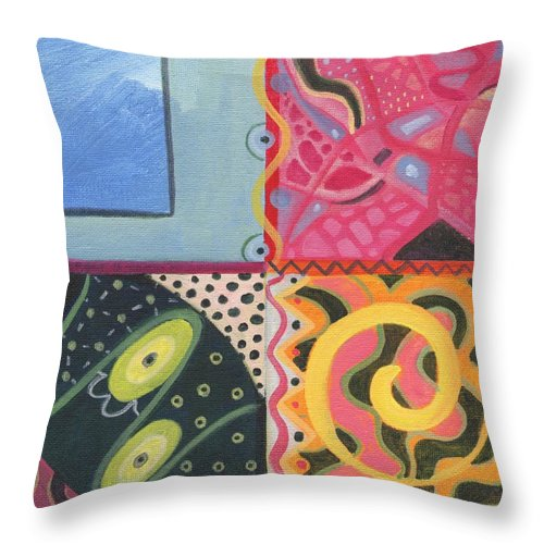 Abstract Throw Pillow featuring the digital art The Joy Of Design I X Part 4 by Helena Tiainen