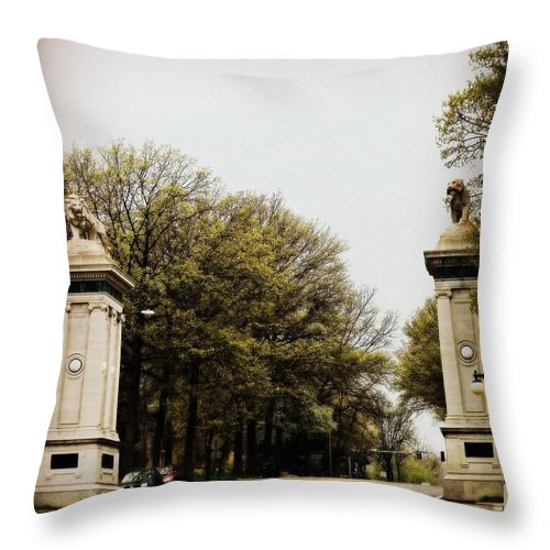 Throw Pillow featuring the photograph The Keepers Of The Gate by Kelly Awad