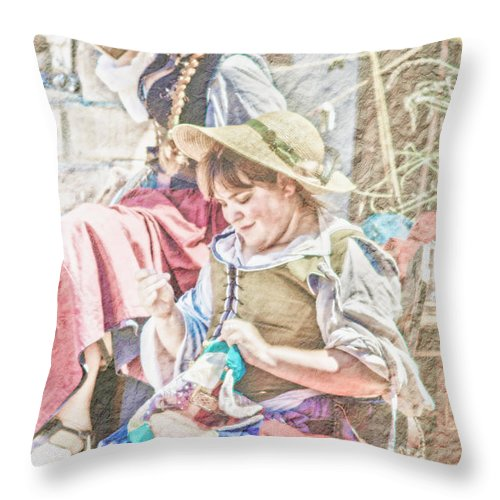 Woman Throw Pillow featuring the photograph The Ladies by Camille Lopez