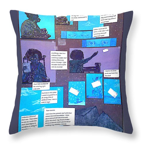 Letter Throw Pillow featuring the painting The Letter by Jessica Faulk